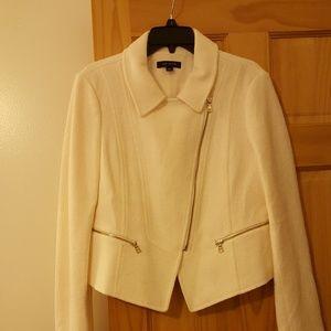 Ann Taylor Winter White Moto Jacket